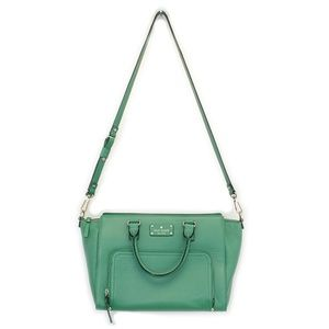 Kate Spade Green Pebbled Leather Handbag